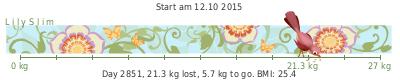 LilySlim Weight loss tickers